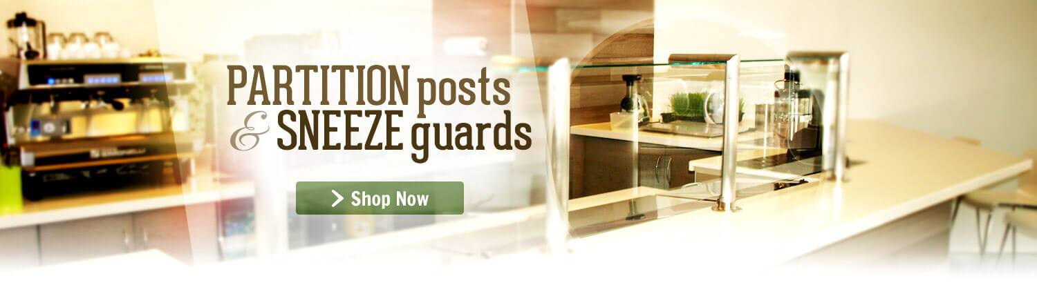 Genuine and High-Quality Sneeze Guard Posts and Partition Systems For Sale